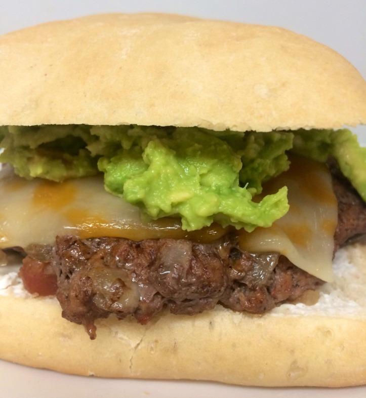 guacamole-salsa burger