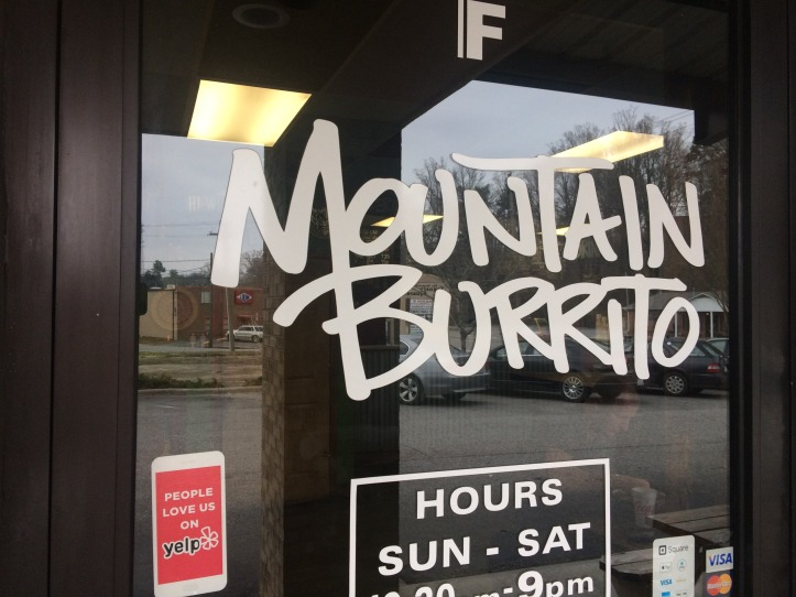 Mountain Burrito sign