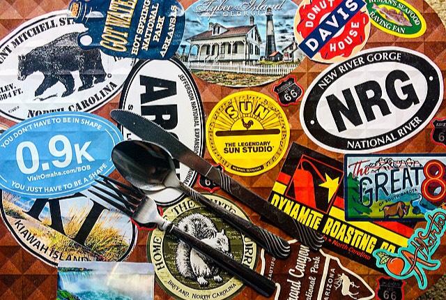 Travel Food Snacks Illustration